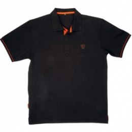 Fox Polo Shirt Black/Orange