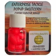 Enterprise Tackle  Pop Up Sweetcorn Nutrabaits Cranberry + N-Butyric Acid FLUORO RED