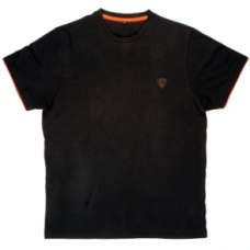 Fox Brushed T Shirt Black/Orange
