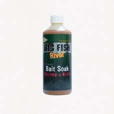 Dynamite Baits Big Fish River Bait Soak Shrimp and Krill 500ml