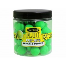 Fun Fishing Fluo Pop-Ups Peach & Pepper