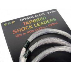 Шок-лидер ESP Taperered Shock Leader Crystal Clear 15-40 lb