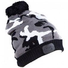 RidgeMonkey Bobble Hat (camo style) Black