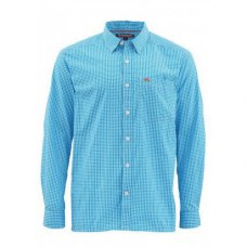 Simms Westshore Shirt Bright Teal Plaid M