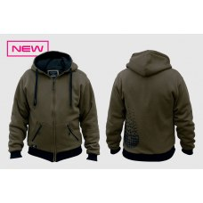 Sticky Dark Green Zip Hood L