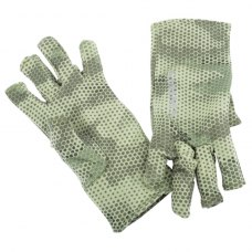 Simms Ultra-Wool Core 3-Finger Liner Hex Camo Loden S