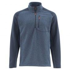 Simms Rivershed Sweater-Quarter Zip Dark Moon XL