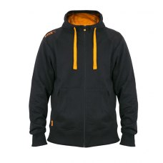 Fox Collection Orange and Black Lightweight Hoodie